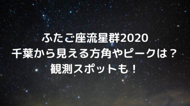 ふたご座流星群2020千葉から見える方角やピークは?観測スポットも!